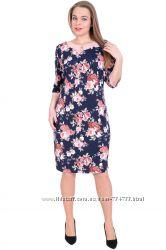 Стильное женское платье, большие размеры