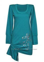 Женское платье - туника на затяжках, все размеры