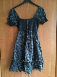 Новое свободное хлопковое чёрное-серое платье S. Oliver р. S-M