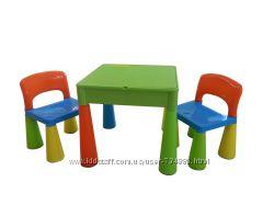 Стол, 2 стула. Детская мебель Tega Baby Mamut, комплект. 5 видов в наличии