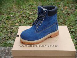 Ботинки Timberland blue, нат. мех р. 36-40