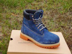 Ботинки Timberland blue, иск. мех р. 36-40
