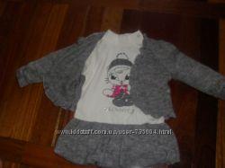 Костюмчик-двоичка Платечко и кофточка на малышку 12 месяцев.