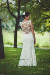 Прокат свадебного платья из итальянского кружева