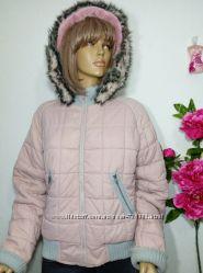 куртка теплая пудрового цвета р М от Nice