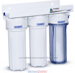 Leader UPS-3-трехступенчатый проточный картриджный фильтр