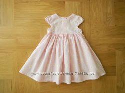 р 80 новое без этикетки легусенькое фирменное хлопковое платье нежно-розово
