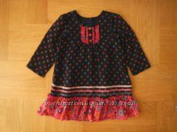 1, 5-3 года Matalan как новое шифоновое фирменное платье. Длина - 52 см, шир