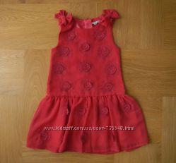 2-3 года Rocha как новое шифоновое фирменное платье. Длина -  см, ширина по