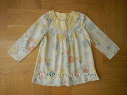 80-86 см Marks&Spencer как новая легкая рубашка хлопок. Длина - 41 см, шири