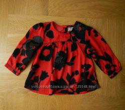 80 см Next яркая легкая новая блузка. Длина - 34 см, ширина под руками 28