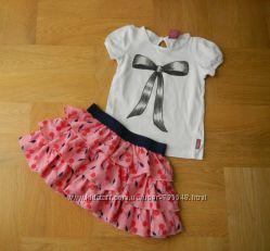 2-3 Matalan как новая нарядная фирменная юбка. Длина 24 см, пояс - 25-33 см