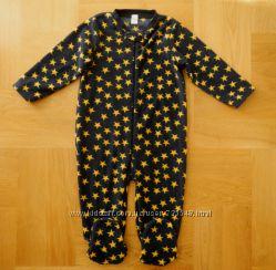 86-92 см Next как новый теплый флисовый человечек слип пижама фирменный. Дл