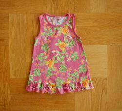 80-98 см Cherokee отличное летнее трикотажное платье хлопок. Длина 43 см, ш