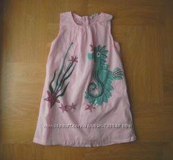 116-122 см Ladybird отличное летнее платье хлопок. Длина 60 см, ширина под