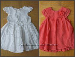 74 см Early Days как новое белое нарядное платье хлопок. Длина - 44 см, шир