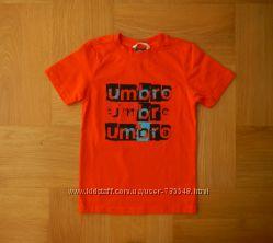 122-128 Umbro новая яркущая фирменная футболка хлопок. Длина 54 см, ширина