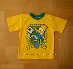 116-122 cм Primark новая яркущая фирменная футболка хлопок. Длина 47 см, ши