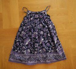 116-122 см Gap новый летний сарафан платье хлопок. Длина 64 см, ширина под