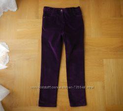 9-10 лет M&Co новые стрейчевые вельветовые брюки скини. Длина - 82 см, шаго