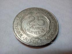 25 франков Гвинеи 1962