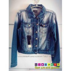 1181 Пиджак джинсовый, синий, потертый, Ranbeeri