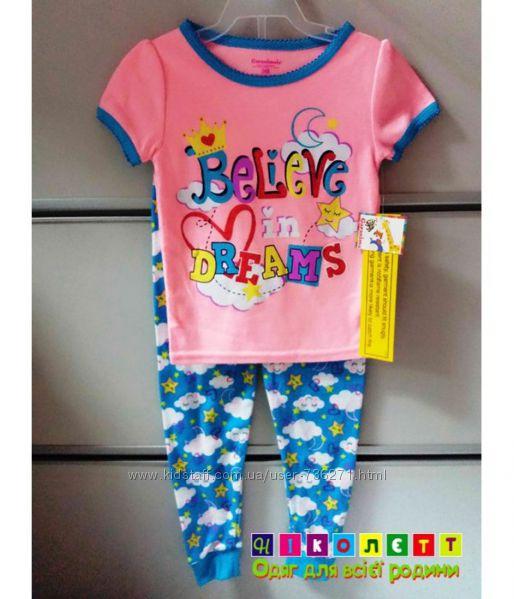 Пижама на девочку, короткий рукав, трикотажная GARANIMALS