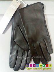 Перчатки женские, натуральная замша, кожа, H&M