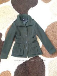 Пальто оливковое демисезонное h&m из Англии, s, xs