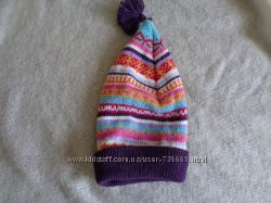 Яркая зимняя шапочка 6-12 мес