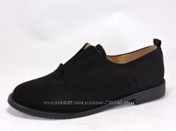 Женские туфельки на устойчивом каблучке. Черные. 2 модели.