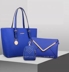 550грн, Сумка, клатч, косметичка, кошелек, набор  модель A929, разные цвета