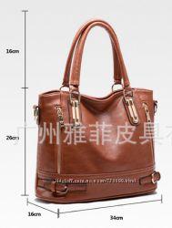 850грн, Кожанная сумка, модель  А-301, разные цвета
