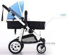 New, Голубая коляска 2 в 1, современный дизайн.