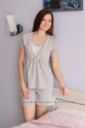 Пижамы с шортиками ТМ MammaLux для беременных и кормящих