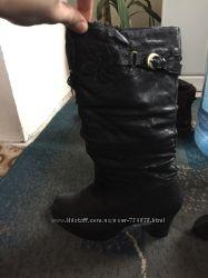 Зимові сапоги взуті разів три. Розмір 39