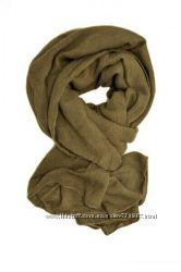 Однотонный шарф, шерсть хлопок