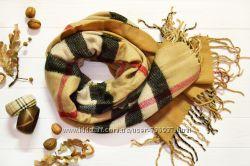 Большой и теплый двухсторонний шарф-палантин