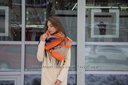 Яркий теплый шарф букле 6 расцветок.