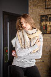 Классический шарф полоска кашемир