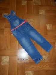 Бомбезный джинсовый комбез George для девочки 5-6 лет