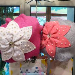 Красивые  шапки для девочек на микрофлисе