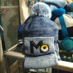 Распродажа Модные комплекты для мальчика шапка, шарф. Польша.