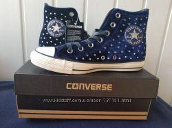Кеды Converse женские All Star вельвет studs