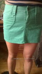Юбка джинсовая зеленая DENIM