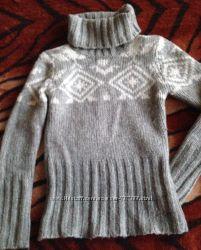 Шерстяной теплый свитер