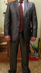 Костюм мужской 54-56 размер темно-серого цвета