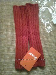 митенки красные шерсть