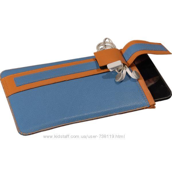 Чехол для планшета, кармашек, 7 дюймов, 7 Petrol, натуральная кожа, внутри