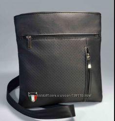 Мужская стильная вместительная сумка на плече Эко-Кожа